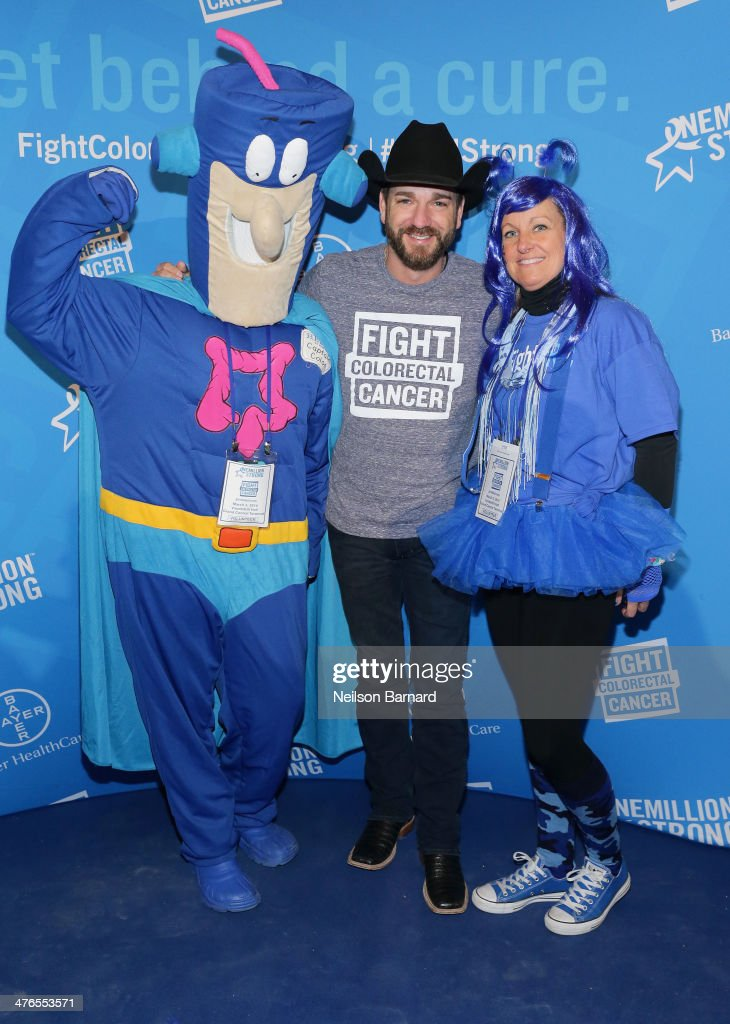 Musician Craig Campbell (L) and Krista Waller attend One Million Strong-Colorectal Cancer Awareness at Grand Central Terminal on March 3, 2014 in New York City.