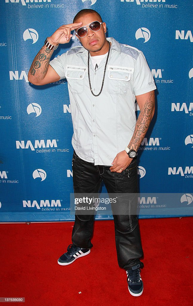 Musician Curtis Young attends the 110th NAMM Show - Day 3 at the Anaheim Convention Center on January 21, 2012 in Anaheim, California.