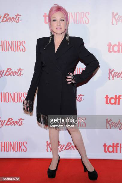 Musician Cyndi Lauper attends TDF Honors Broadway's 'Kinky Boots' reception at Marriott Marquis Times Square on March 20 2017 in New York City