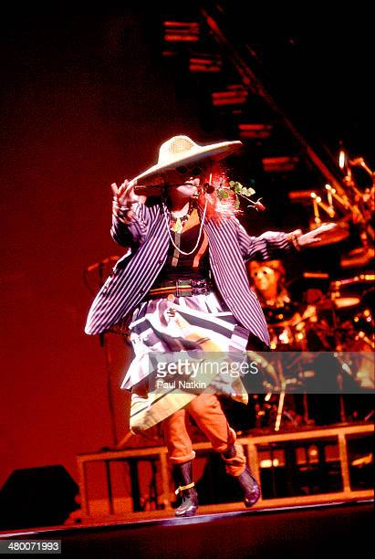 Musician Cyndi Lauper performs onstage Chicago Illinois September 16 1984
