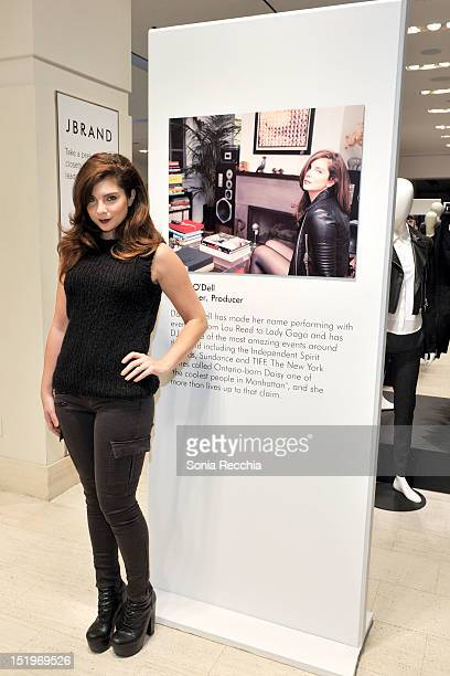 Musician Daisy O'Dell attends Holt Renfrew And The Coveteur Celebrate J Brand Fall 2012 Ready To Wear at Holt Renfrew Toronto on September 13 2012 in...
