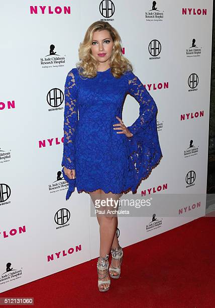 Musician Dalal Bruchmann attends NYLON Magazine's Muses And Music Party at No Vacancy on February 9 2016 in Los Angeles California