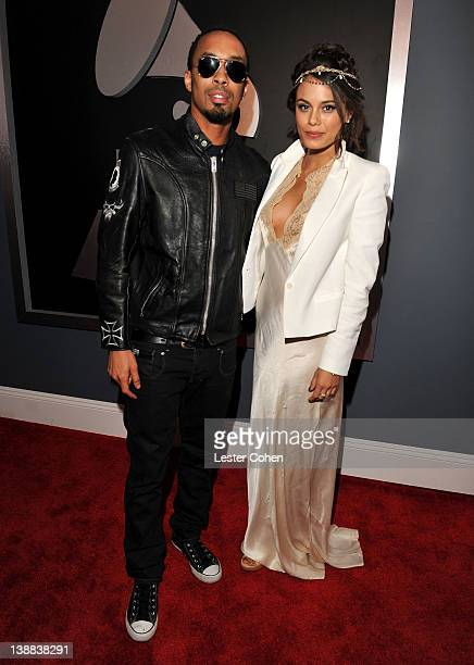Musician Dallas Austin and Nathalie Kelley arrive at The 54th Annual GRAMMY Awards at Staples Center on February 12 2012 in Los Angeles California
