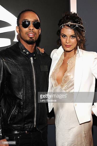 Musician Dallas Austin and Nathalie Kelley arrives at the 54th Annual GRAMMY Awards held at Staples Center on February 12 2012 in Los Angeles...