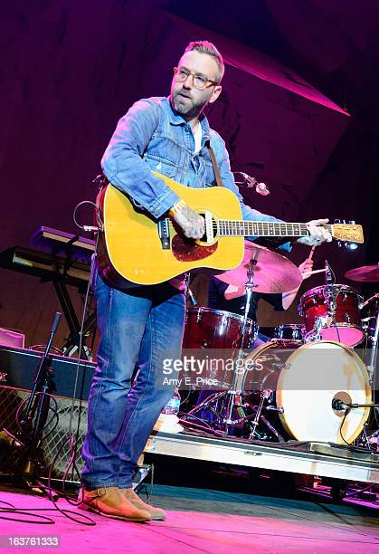 Musician Dallas Green of City and Colour performs onstage at the Express Music Showcase during the 2013 SXSW Music Film Interactive Festival at...