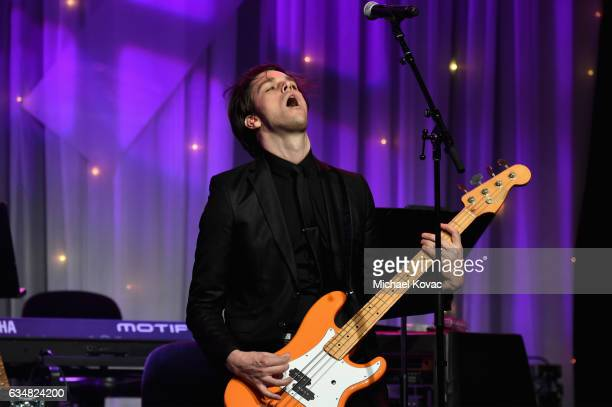 Musician Dallon Weekes performs onstage at PreGRAMMY Gala and Salute to Industry Icons Honoring Debra Lee at The Beverly Hilton on February 11 2017...