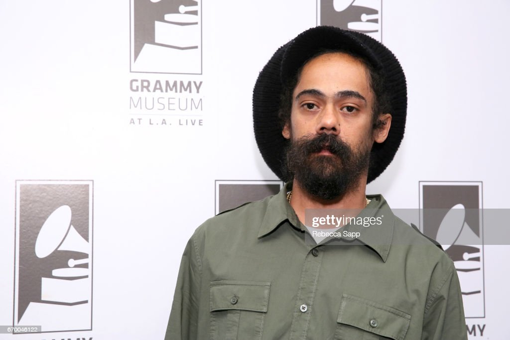 Musician Damian 'Jr. Gong' Marley attends A Conversation With Damian 'Jr. Gong' Marley at The GRAMMY Museum on April 18, 2017 in Los Angeles, California.