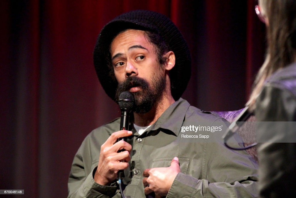 Musician Damian 'Jr. Gong' Marley speaks onstage at A Conversation With Damian 'Jr. Gong' Marley at The GRAMMY Museum on April 18, 2017 in Los Angeles, California.