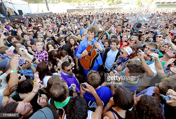 Musician Damian Kulash of OK Go performs at the Lands End Stage during the 2011 Outside Lands Music and Arts Festival held at Golden Gate Park on...