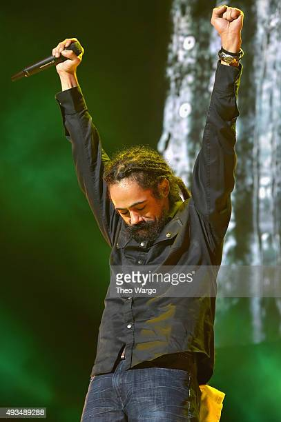 Musician Damian Marley performs onstage during TIDAL X 1020 Amplified by HTC at Barclays Center of Brooklyn on October 20 2015 in New York City