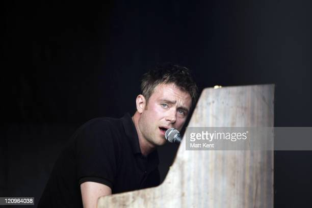 Musician Damon Albarn of The Good The Bad and The Queen performs on stage >> April 27 2008 at Victoria Park in London The festival marks 30th...
