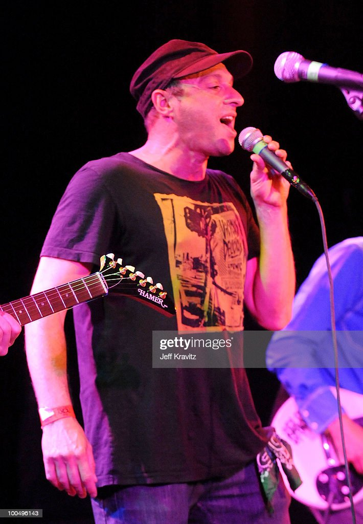 Musician Dan Bern of Infant Sorrow and Friends perform onstage during 'Get Him To The Greek' at The Roxy Theatre on May 24 2010 in West Hollywood...