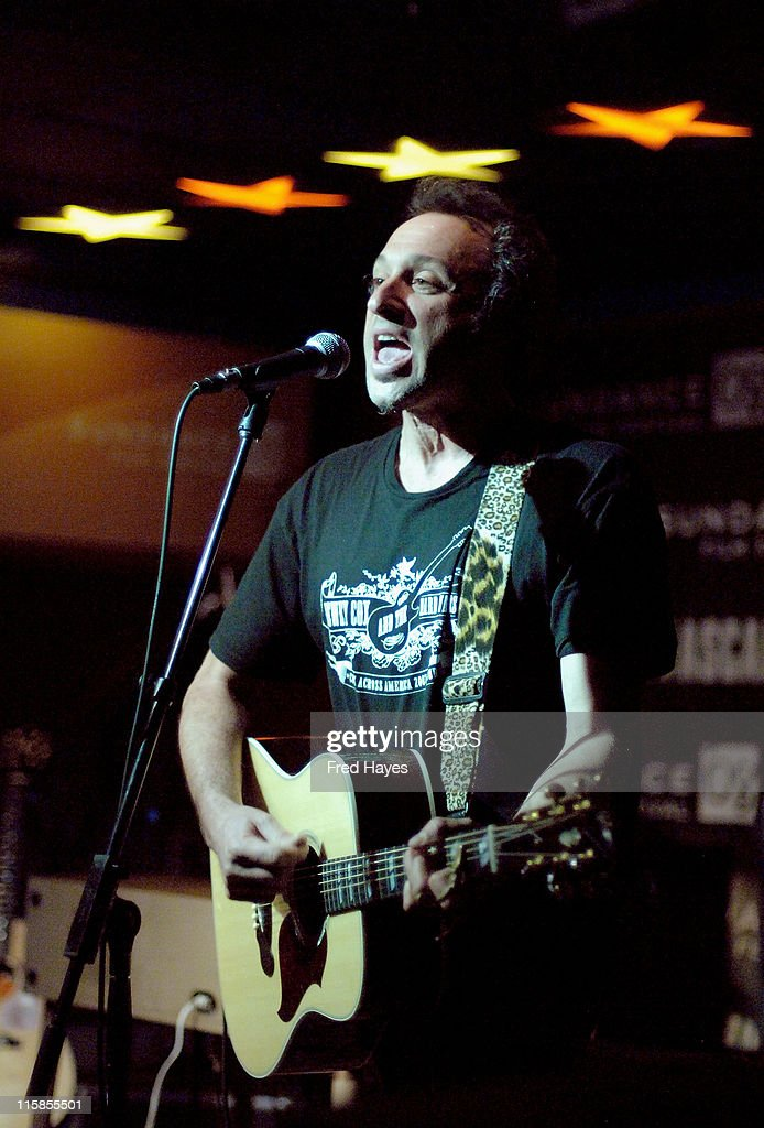Musician Dan Bern performs at the Music Cafe during the 2008 Sundance Film Festival on January 25 2008 in Park City Utah