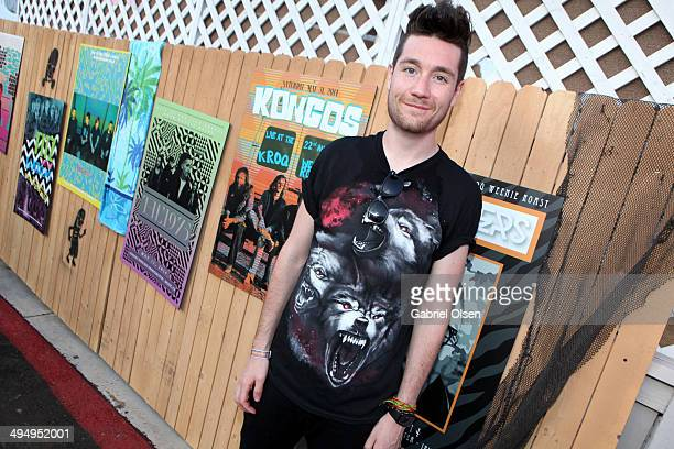 Musician Dan Smith of Bastille poses backstage during the 22nd Annual KROQ Weenie Roast at Verizon Wireless Music Center on May 31 2014 in Irvine...