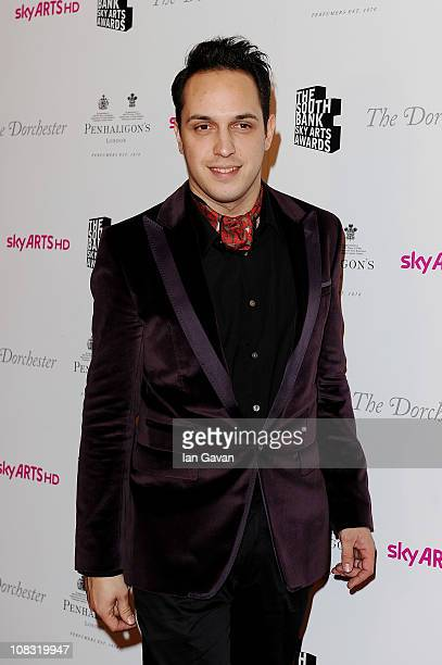 Musician Dan Smith of the Noisettes attends the South Bank Sky Arts Awards at The Dorchester on January 25 2011 in London England