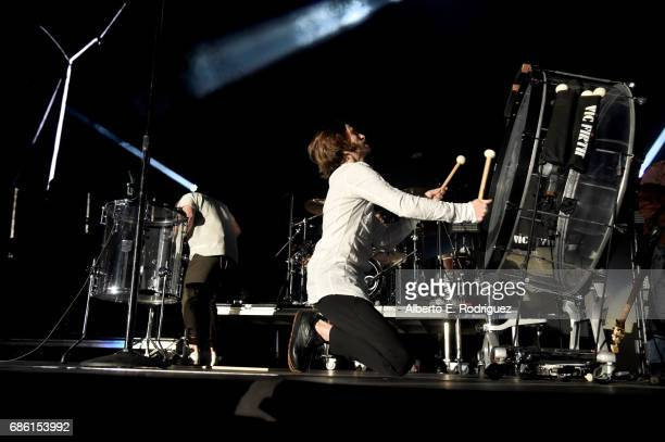 Musician Daniel Wayne Sermon of Imagine Dragons performs at KROQ Weenie Roast y Fiesta 2017 at StubHub Center on May 20 2017 in Carson California
