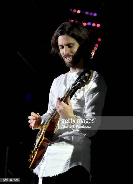 Musician Daniel Wayne Sermon of Imagine Dragons performs onstage at KROQ Weenie Roast y Fiesta 2017 at StubHub Center on May 20 2017 in Carson...