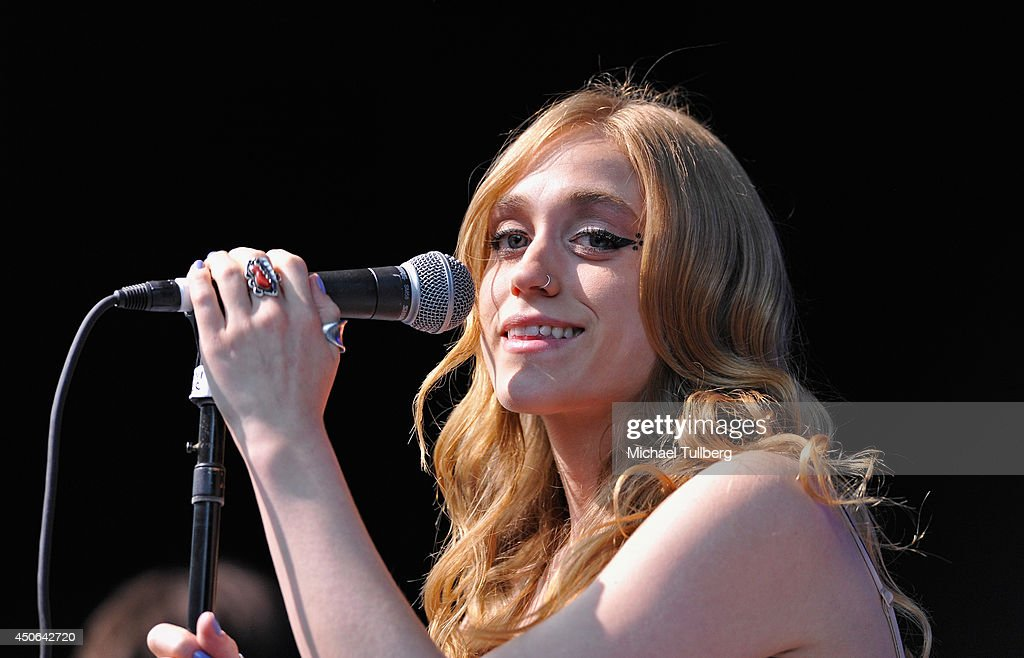 Musician Danielle Bouchard of the music group Oh Honey performs at The Greek Theatre on June 14, 2014 in Los Angeles, California.