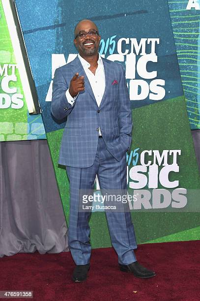 Musician Darius Rucker attends the 2015 CMT Music awards at the Bridgestone Arena on June 10 2015 in Nashville Tennessee