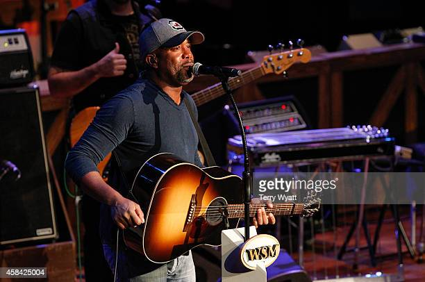 Musician Darius Rucker performs at The Grand Ole Opry at Ryman Auditorium on November 4 2014 in Nashville Tennessee