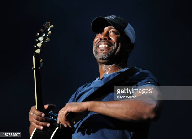 Musician Darius Rucker performs onstage during 2013 Stagecoach California's Country Music Festival held at The Empire Polo Club on April 28 2013 in...