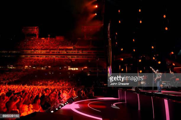 Musician Darius Rucker performs onstage for day 4 of the 2017 CMA Music Festival on June 11 2017 in Nashville Tennessee