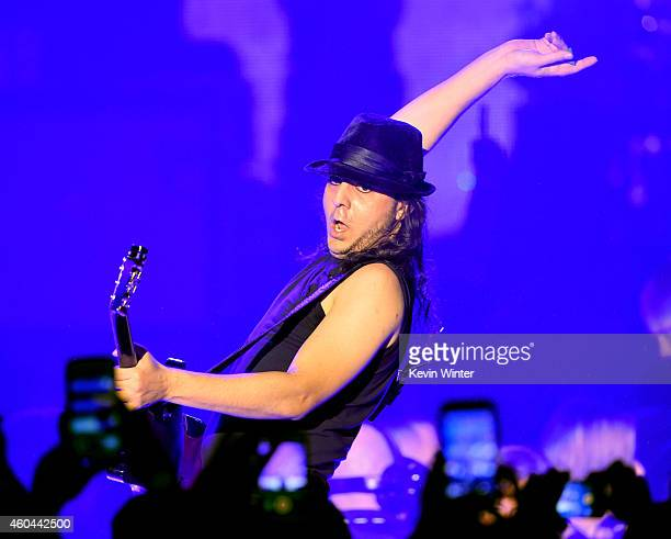 Musician Daron Malakian of System of a Down performs onstage during day one of the 25th annual KROQ Almost Acoustic Christmas at The Forum on...
