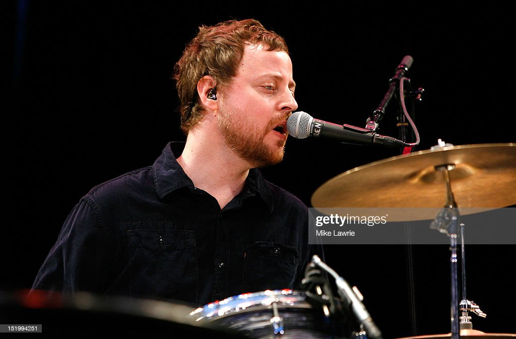 Musician Darren Jessee of Ben Folds Five performs at SummerStage at Rumsey Playfield, Central Park on September 14, 2012 in New York City.
