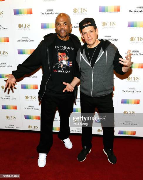 Musician Darryl 'DMC' McDaniels and DJ ZTrip attend the 40th Kennedy Center Honors at the Kennedy Center on December 3 2017 in Washington DC