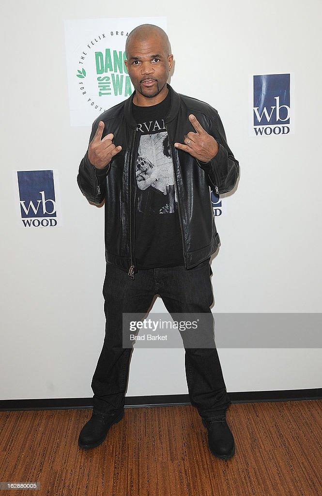 Musician Darryl 'DMC' Mcdaniels attends 'Dance This Way' Benefit Dance-A-Thon kick off party at WB Wood on February 28, 2013 in New York City.