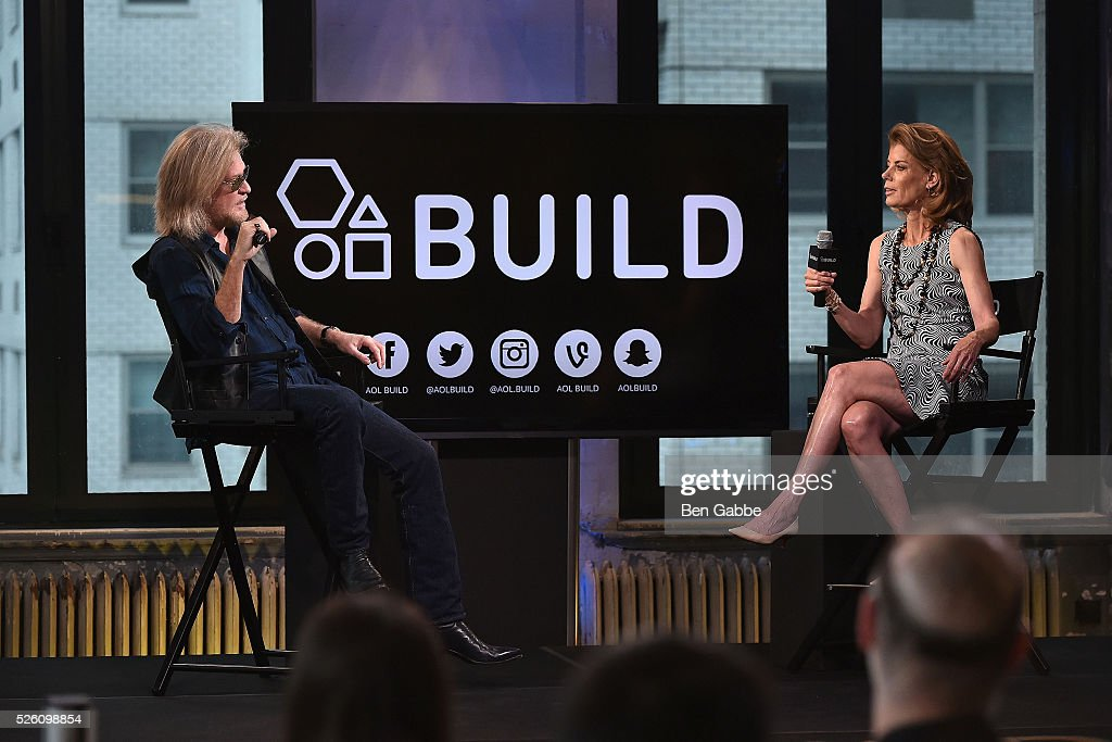 Musician Daryll Hall (L) and moderator Suzanne Pollak speak during AOL Build Speaker series at AOL Studios on April 29, 2016 in New York, New York.