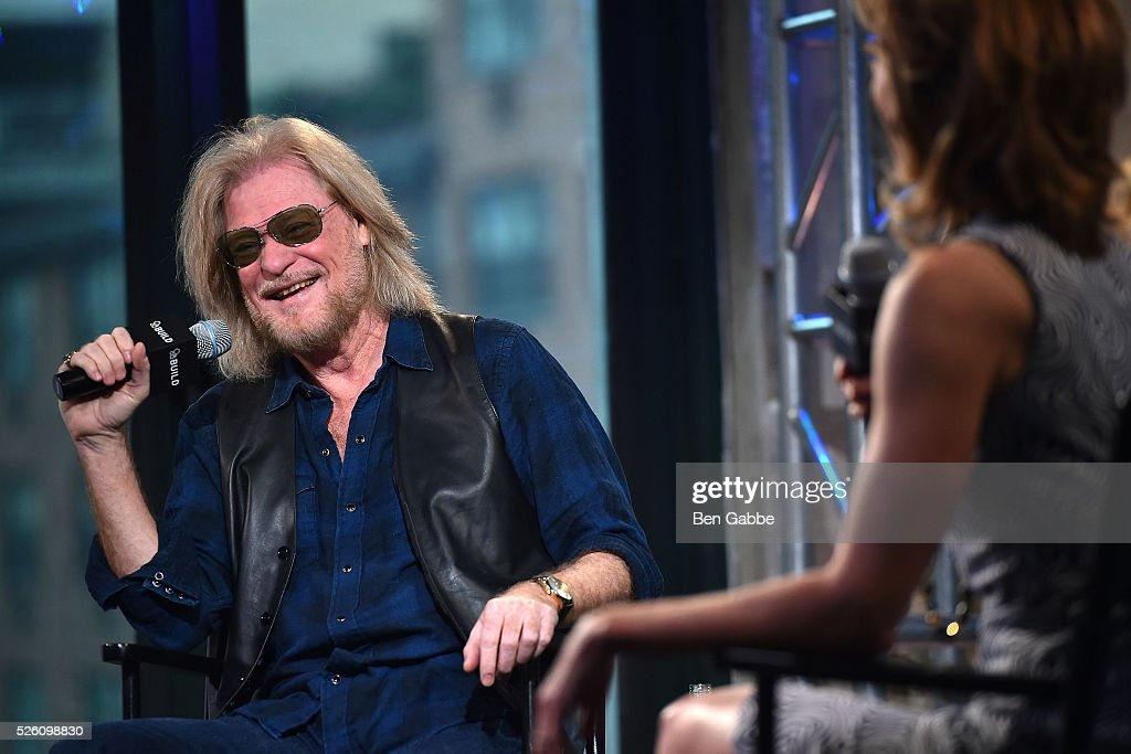 Musician Daryll Hall (L) speaks during AOL Build Speaker series at AOL Studios on April 29, 2016 in New York, New York.