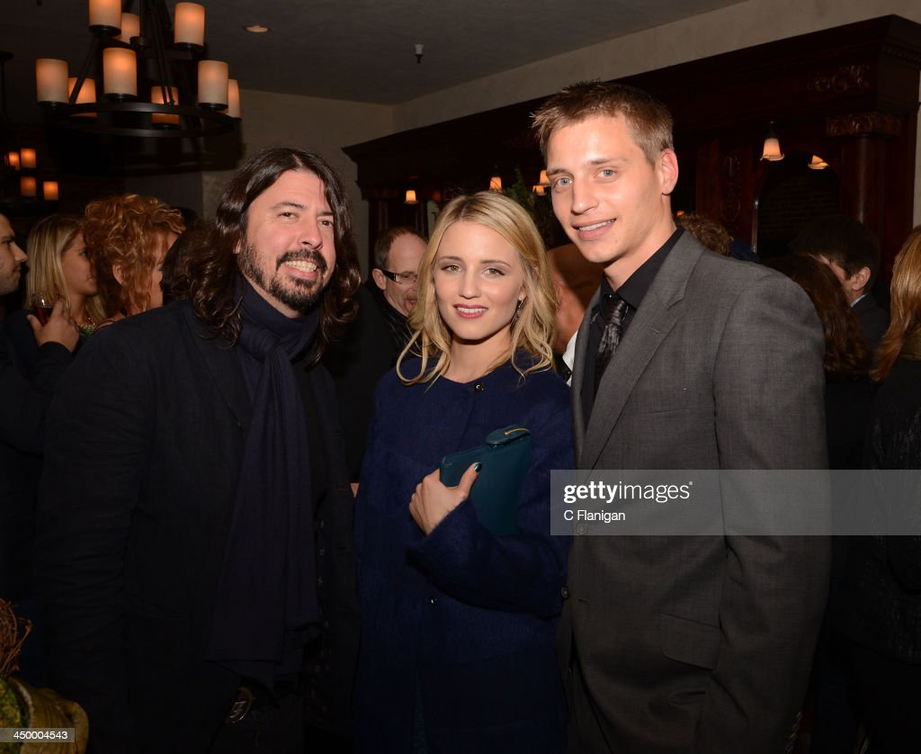 Musician Dave Grohl of The Foo Fighters Actress Dianna Agron and Jason Agron attend The Hollywood Reporter After Party at the Napa Valley Film...