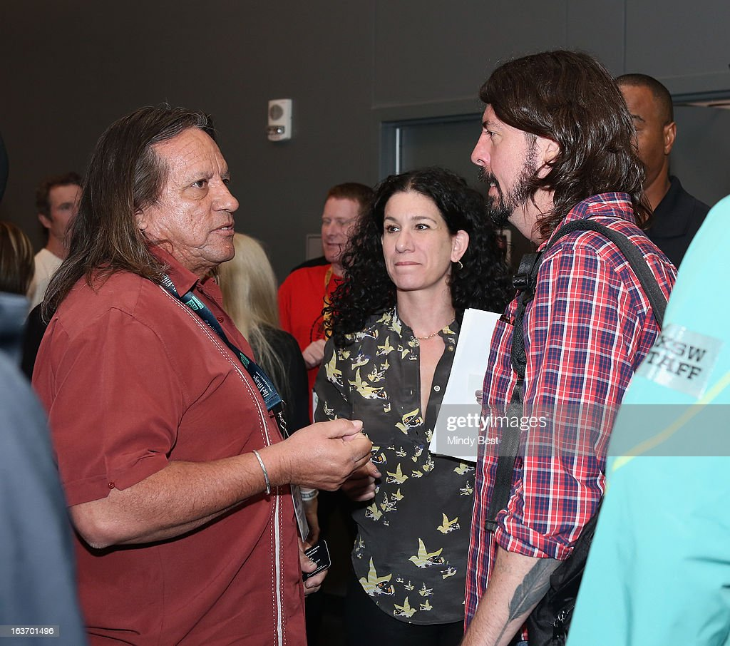Musician <a gi-track='captionPersonalityLinkClicked' href=/galleries/search?phrase=Dave+Grohl&family=editorial&specificpeople=202539 ng-click='$event.stopPropagation()'>Dave Grohl</a> speaks (R) at SXSW Keynote: <a gi-track='captionPersonalityLinkClicked' href=/galleries/search?phrase=Dave+Grohl&family=editorial&specificpeople=202539 ng-click='$event.stopPropagation()'>Dave Grohl</a> during the 2013 SXSW Music, Film + Interactive Festival at Austin Convention Center on March 14, 2013 in Austin, Texas.