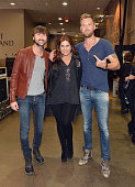 Musician Dave Haywood singer Hillary Scott and musician Charles Kelley of Lady Antebellum attend the 48th Annual Academy of Country Music Awards at...