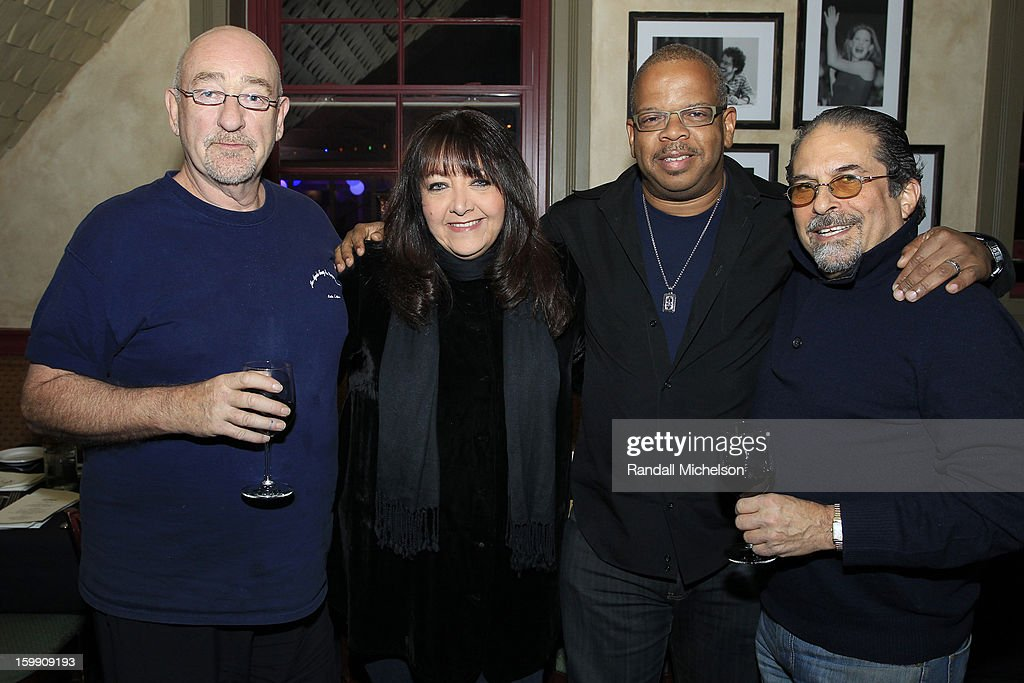 Musician Dave Mason, BMI Executive Doreen Ringer-Ross, Composer <a gi-track='captionPersonalityLinkClicked' href=/galleries/search?phrase=Terence+Blanchard&family=editorial&specificpeople=3210514 ng-click='$event.stopPropagation()'>Terence Blanchard</a> and Manager Bruce Garfield attend the BMI Sundance Dinner at Zoom Restaurant on January 22, 2013 in Park City, Utah.