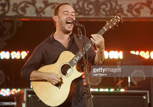 Musician Dave Matthews of the Dave Matthews Band performs during the 2010 NFL Opening Kickoff Presented by EA SPORTS in Jackson Square on September 9...