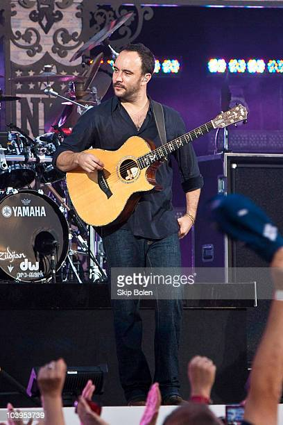 Musician Dave Matthews performs at the 2010 NFL Opening Kickoff Presented by EA SPORTS inJackson Square on September 9 2010 in New Orleans Louisiana