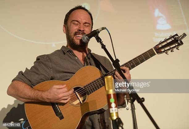 Musician Dave Matthews performs The Recording Academy Producers Engineers Wing Presents 7th Annual GRAMMY Week Event Honoring Neil Young at The...