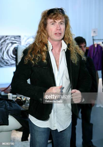 Musician Dave Mustaine attend GRAMMY Style Studio Day 4 at Smashbox West Hollywood on January 30 2010 in West Hollywood California