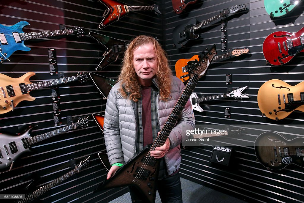 Musician Dave Mustaine attends the NAMM Show 2017 at Anaheim Convention Center on January 22, 2017 in Anaheim, California.