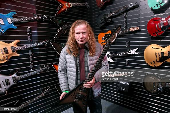 Musician Dave Mustaine attends the NAMM Show 2017 at Anaheim Convention Center on January 22 2017 in Anaheim California
