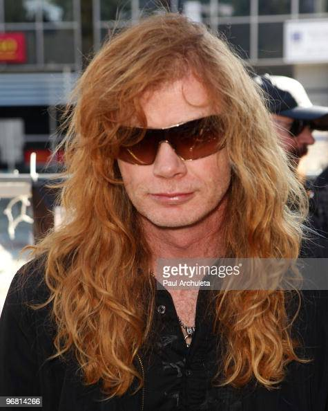 Musician Dave Mustaine attends the Revolver Golden Gods Awards press conference at Rainbow Bar Grill on February 17 2010 in Los Angeles California