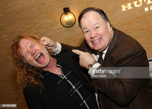 Musician Dave Mustaine of Megadeth and actor Dennis Haskins attend the TJ Martell Foundations 2nd Annual Let's Talk Nashville event at Hutton Hotel...