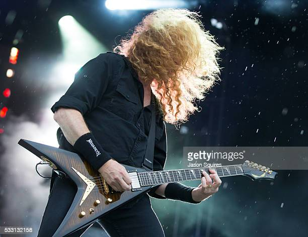 Musician Dave Mustaine of Megadeth performs at MAPFRE Stadium on May 20 2016 in Columbus Ohio