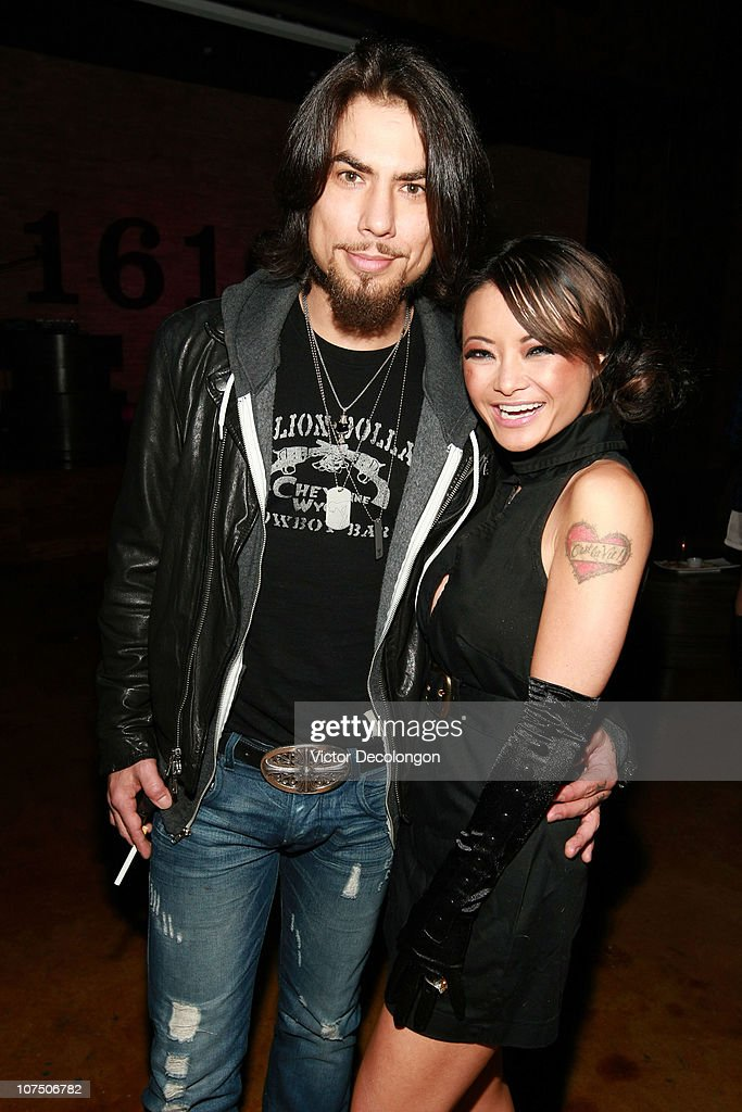 Musician Dave Navarro and actress Tila Tequila attend the Etty Farrell Birthday Celebration at 1616 Club on December 9, 2010 in Los Angeles, California.