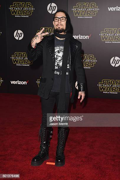 Musician Dave Navarro attends Premiere of Walt Disney Pictures and Lucasfilm's 'Star Wars The Force Awakens' on December 14 2015 in Hollywood...