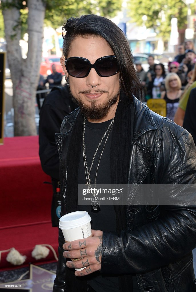 Musician Dave Navarro attends the ceremony honoring them with a Star on The Hollywood Walk of Fame on October 30, 2013 in Hollywood, California.