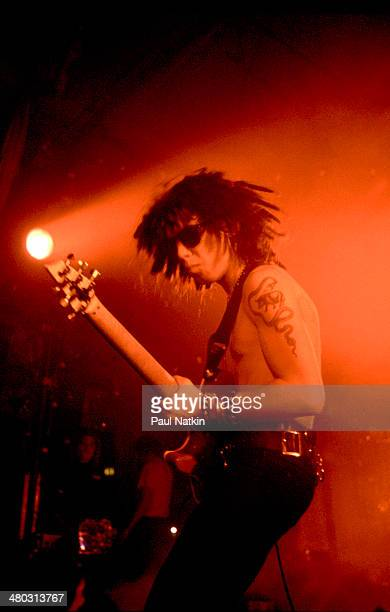 Musician Dave Navarro of the group Jane's Addiction performing onstage at the Palladium Los Angeles California December 20 1990