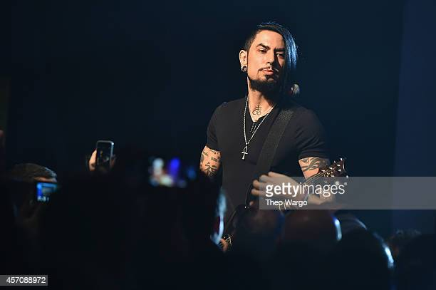 Musician Dave Navarro onstage as Jane's Addiction performs during the CBGB Music Film Festival 2014 as CBGB Presents Jane's Addiction with the CBGB...